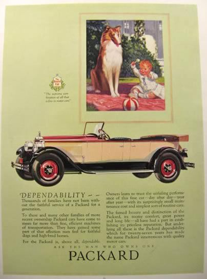 1920s Packard ad with child and dog 5 Tate Collection