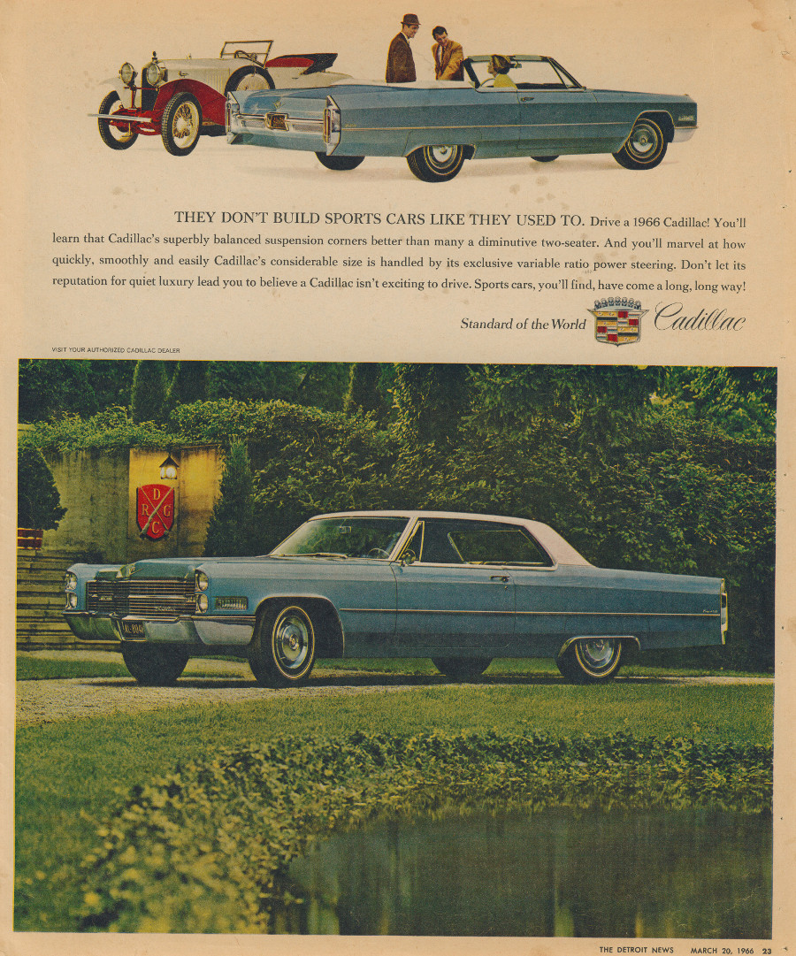 1966 Cadillac ad 3 Tate Collection RESIZED