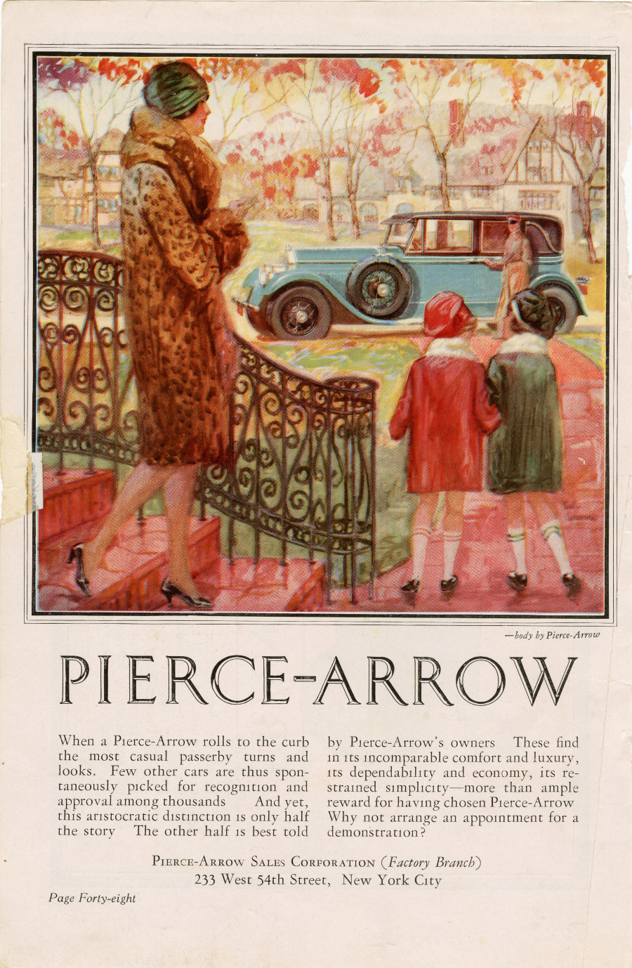 Pierce Arrow advertisement 1920s NAHC 8 RESIZED