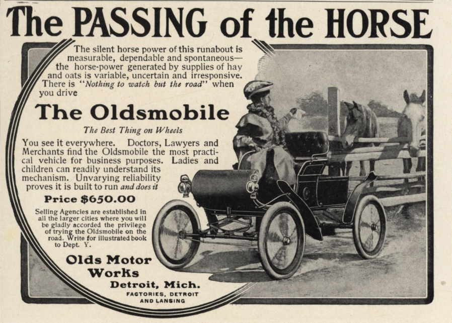 An early Oldsmobile ad circa 1900s 2 RESIZED