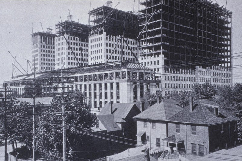 General Motors Building construction in 1921 Ferens Collection 1