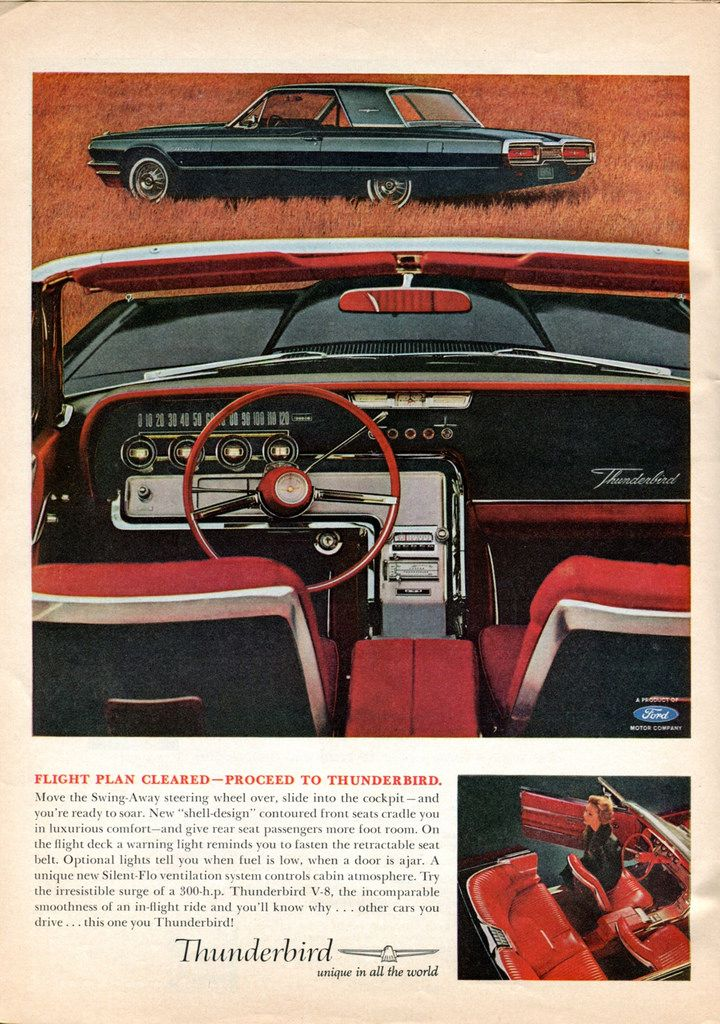 1964 Thunderbird ad featuring the interior Robert Tate Collection 2