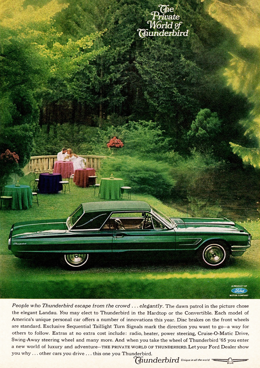 1965 Ford Thunderbird ad Robert Tate Collection 3 RESIZED
