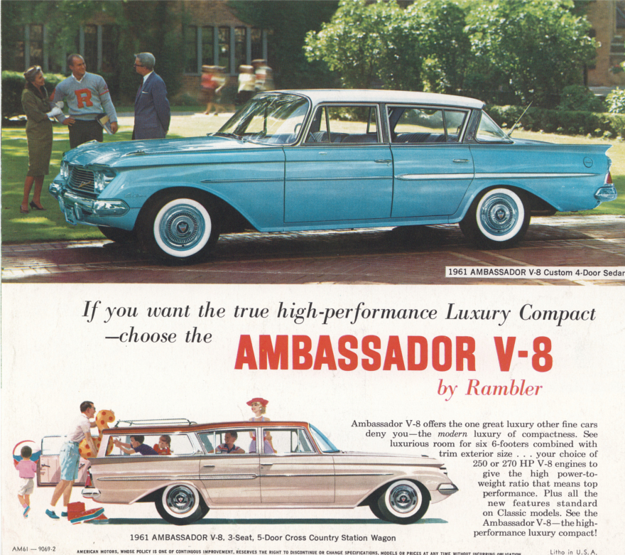1961 Rambler Ambassador ad Robert Tate Collection 1 RESIZED