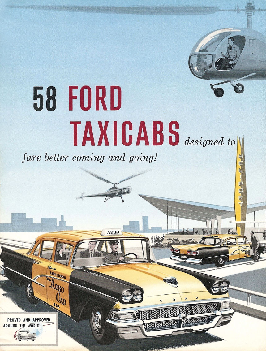 1958 Ford taxicabs ad 3 Tate Collection