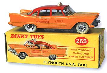 1958 Plymouth taxi by Dinky Toys 8 Tate Collection