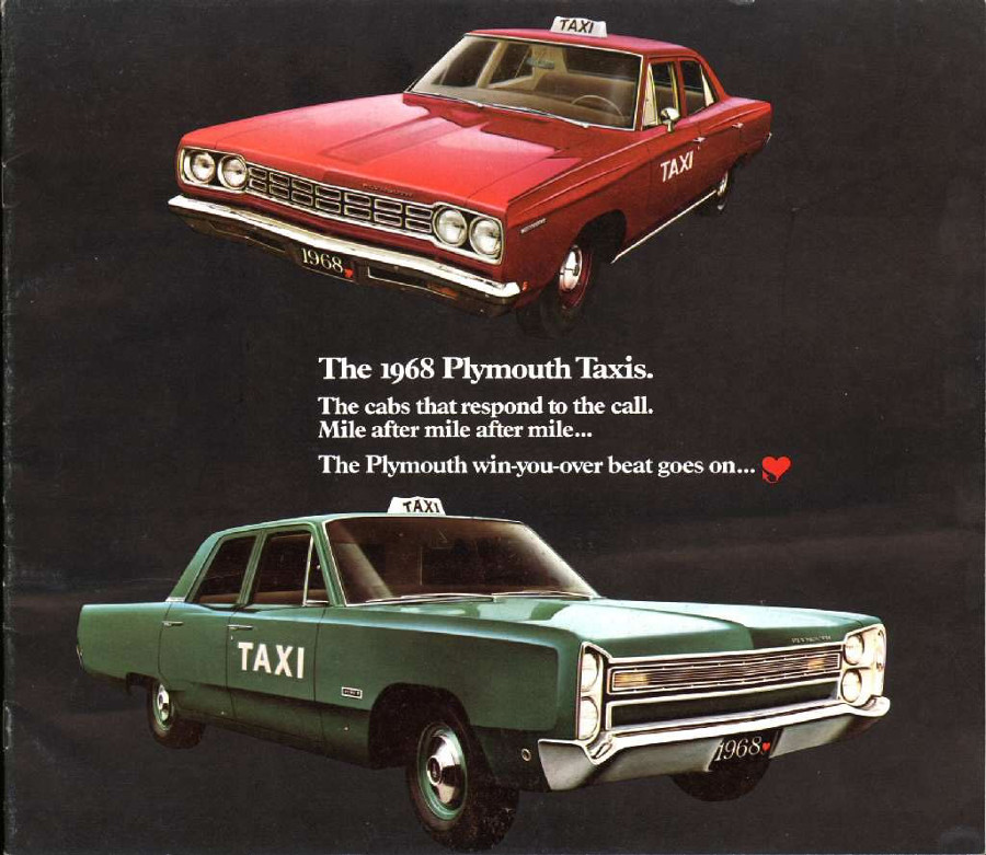 1968 Plymouth taxicab ad 7 Tate Collection RESIZED