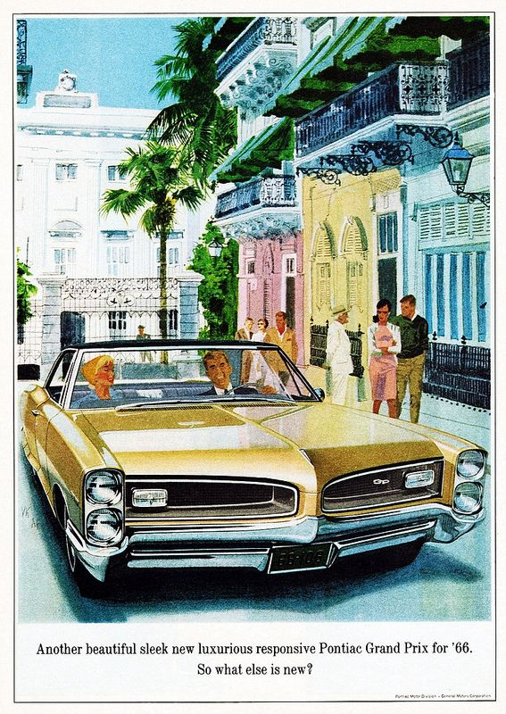 An ad for 1966 Pontiac Grand Prix GM Media Archives 5