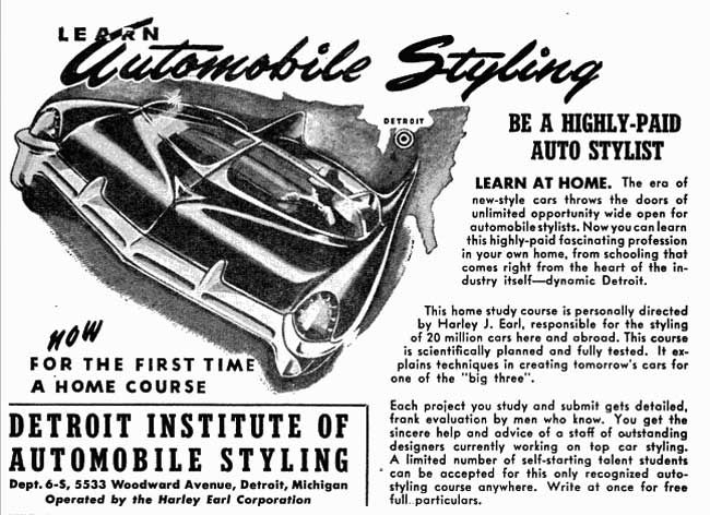 Learn Automotive Styling ad 4