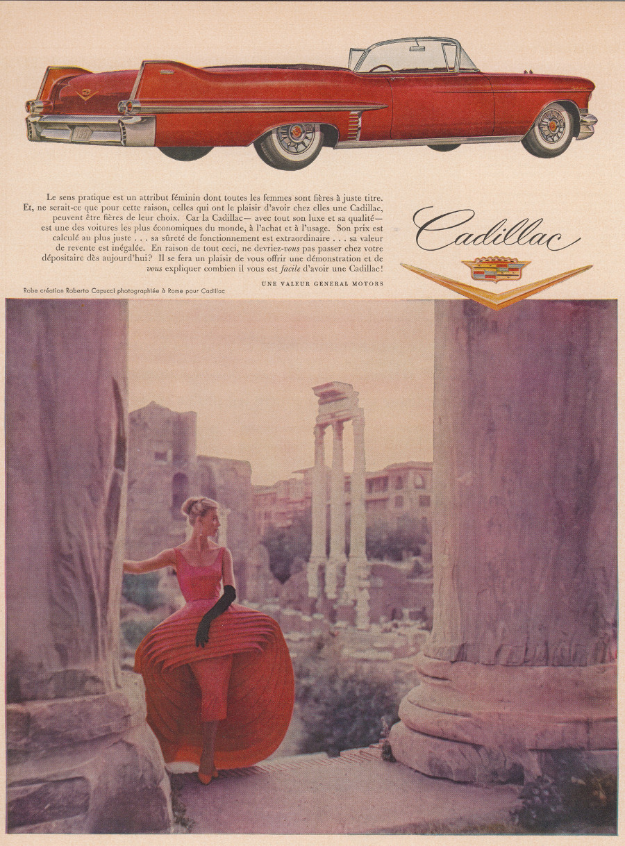1957 Cadillac advertisement from France Robert Tate Collection General Motors 4 RESIZED