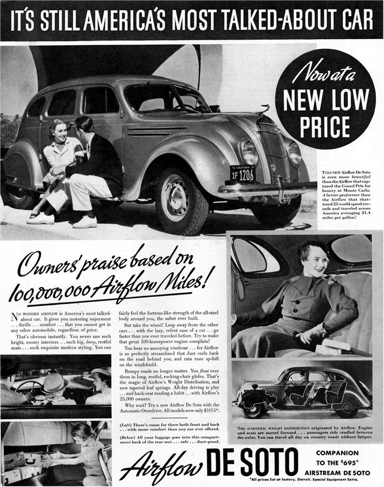 1930 DeSoto Airflow ad Robert Tate Collection Chrysler Corporation 3