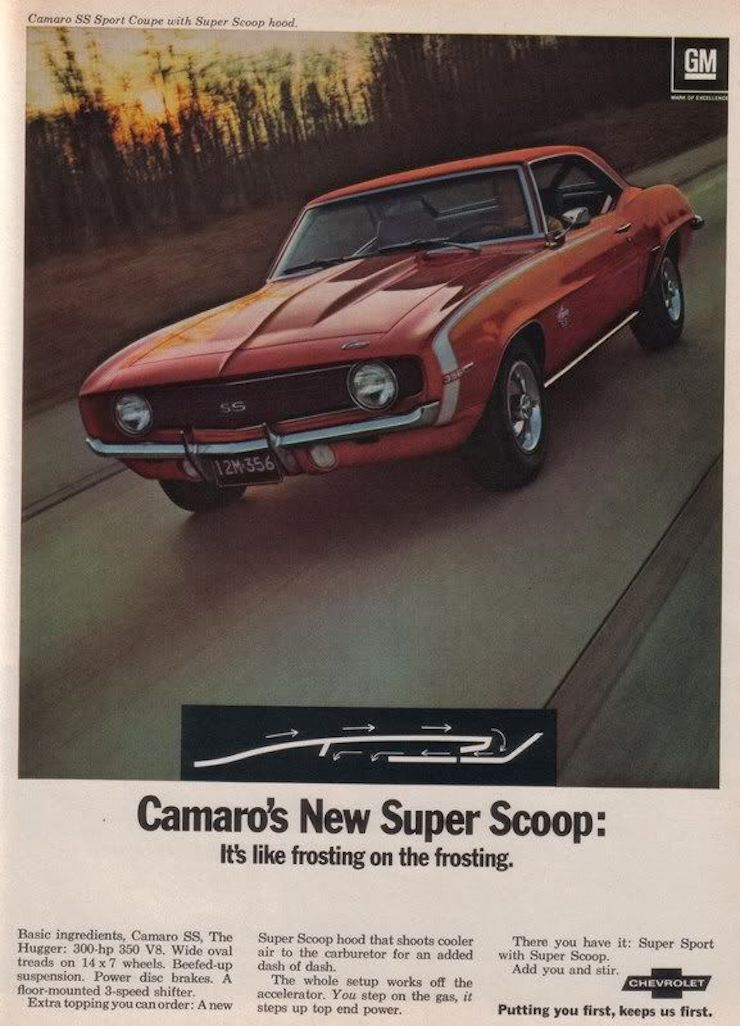 1969 Chevy Camaro SS ad GM Robert Tate Collection 6