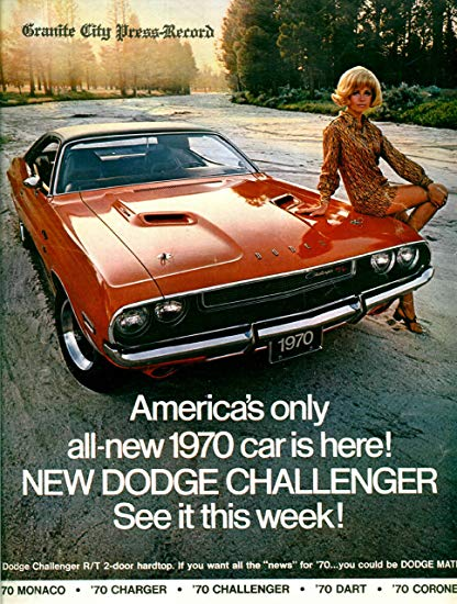 1970 Dodge Challenger ad Chrysler Robert Tate Collection 2