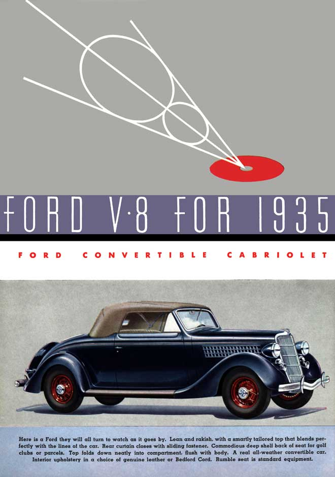 1935 Ford V 8 ad Ford Motor Company Robert Tate Collection 4