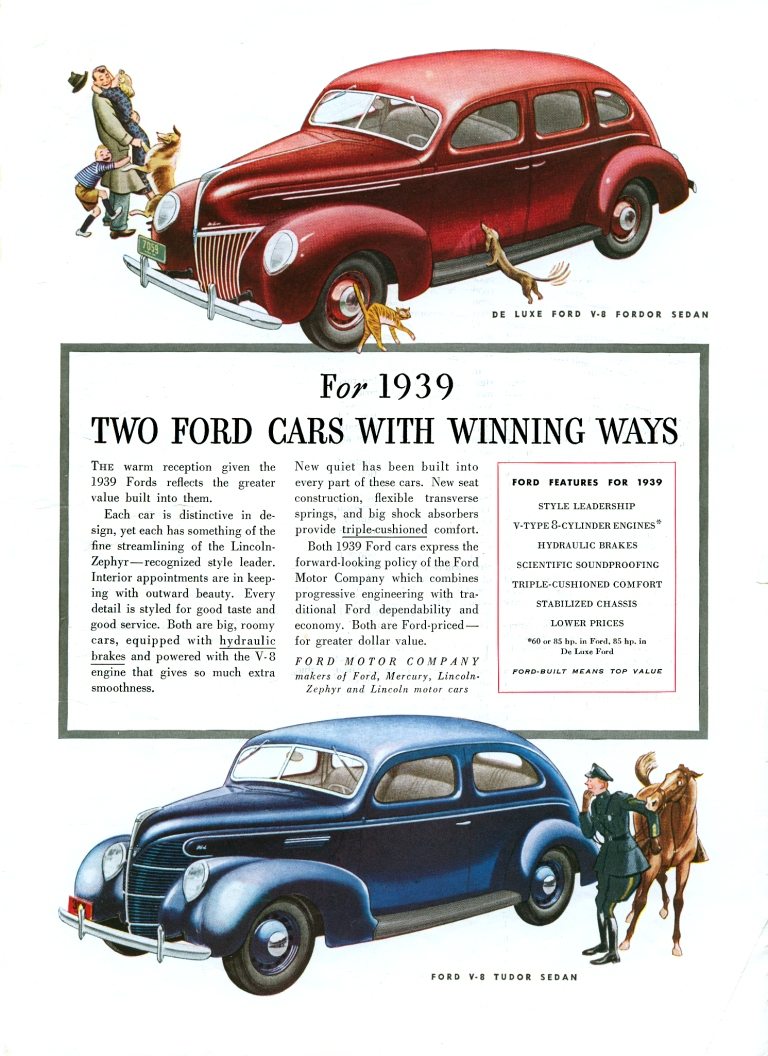 1939 Ford ad Ford Motor Company Robert Tate Collection 6