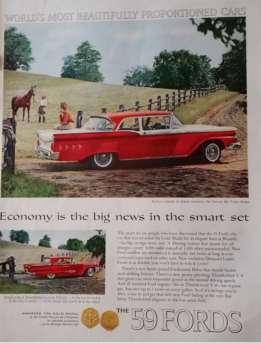 1959 Ford advertising Ford Motor Company Archives 4 RESIZED