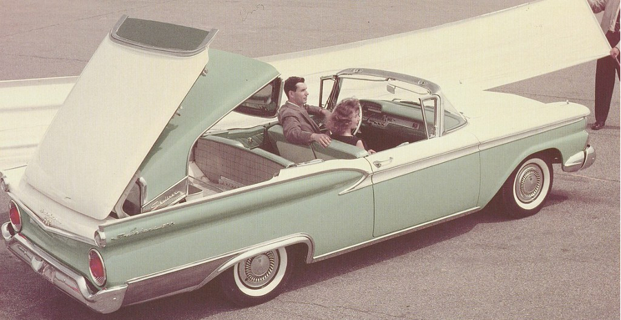 1959 Ford convertible demonstrating retractable top Ford Motor Company Archives 6 RESIZED