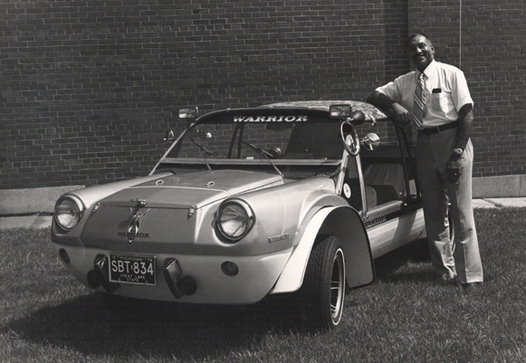 McKinley Thompson Jr. with the Warrior vehicle he designed Ford Motor Company Archives 8