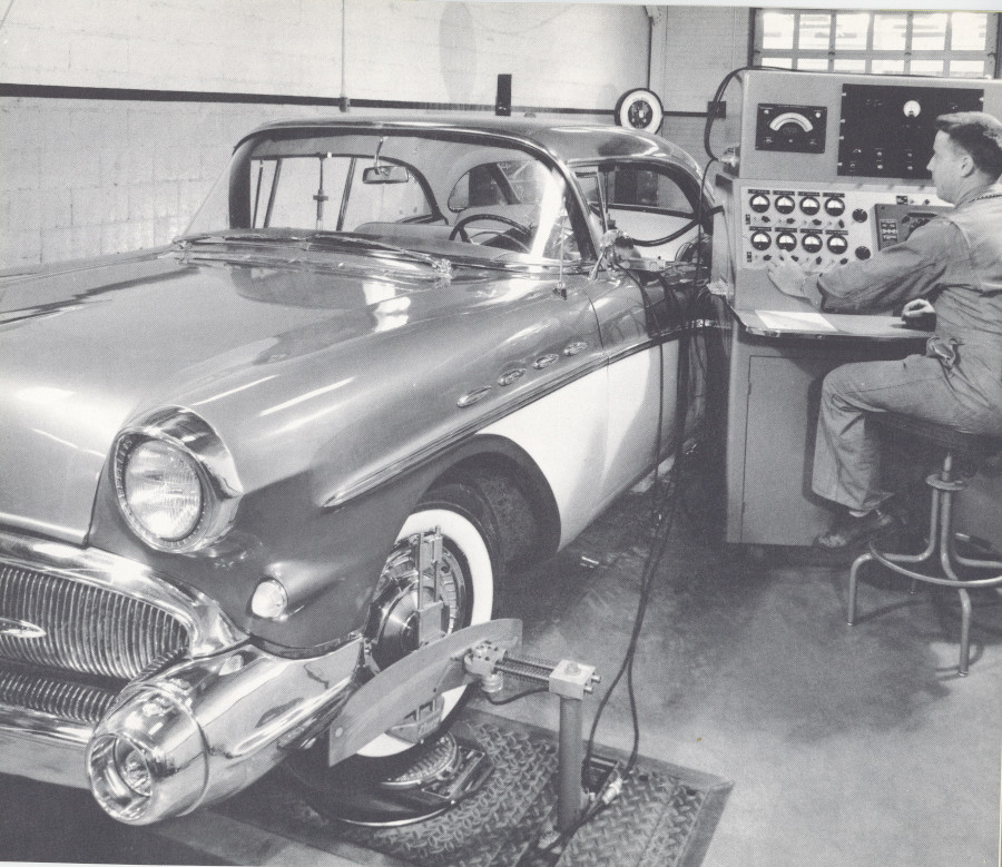 A 1957 Buick undergoes a steering test GM Media Archives RESIZED 5