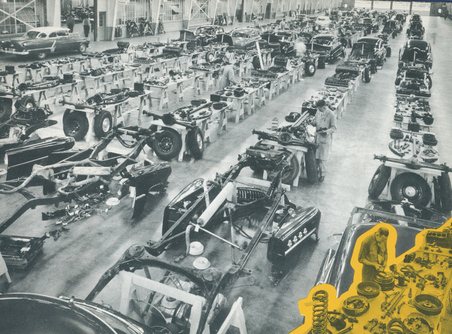 Cars are dismantled after 25000 miles for testing 1951 GM Media Archives RESIZED 4