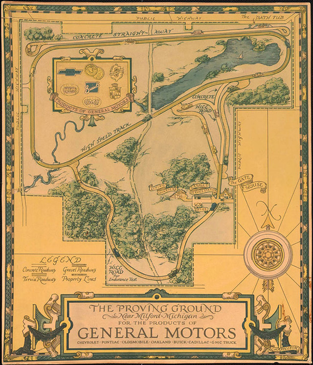 GM Map of Milford Proving Grounds GM Media Archives 1