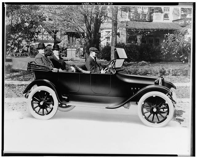 The Dodge Brothers riding in a touring model Chrysler Archives 3