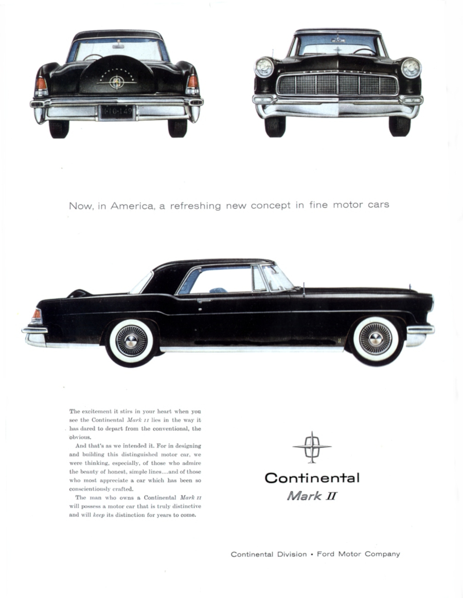 Ad for the 1956 Continental Mark II Ford Motor Company Archives RESIZED 6