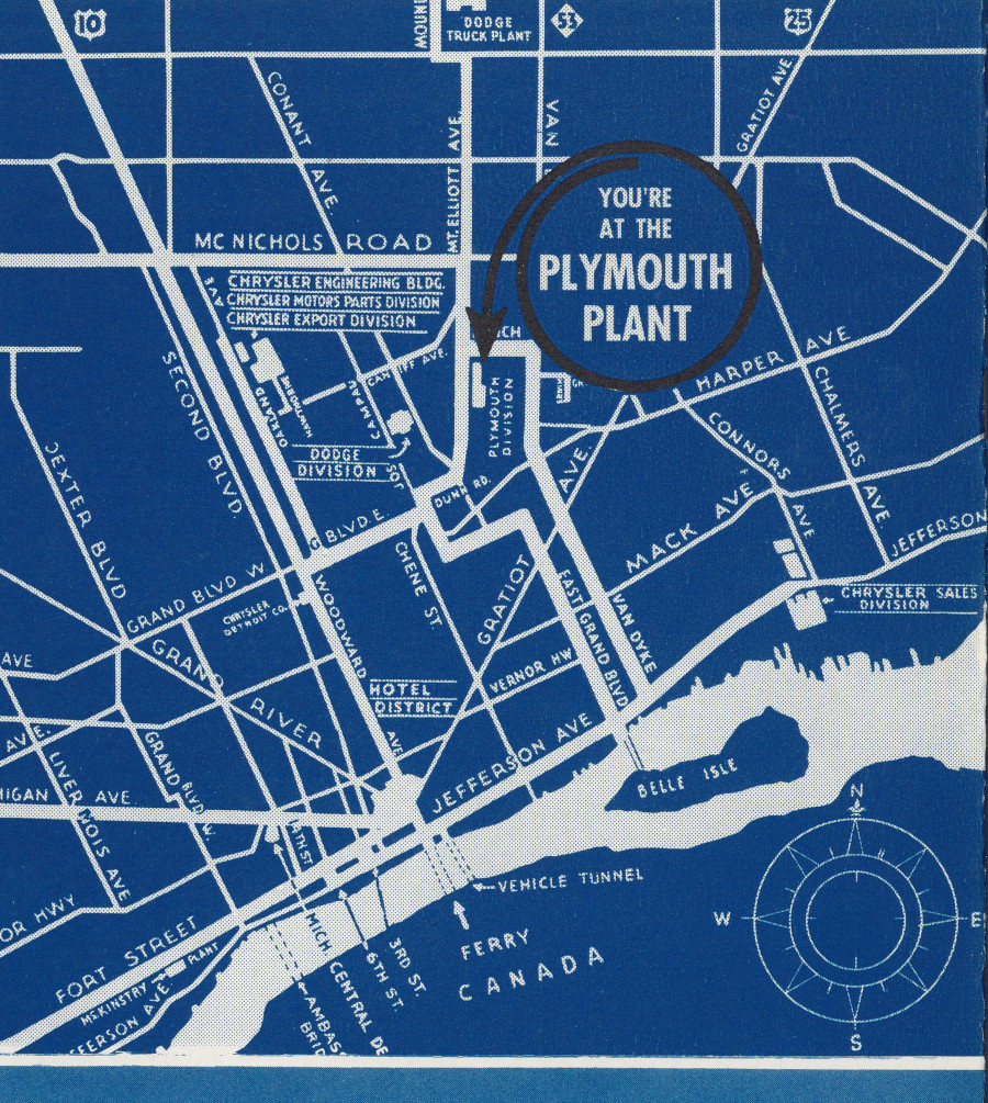 Map of Detroit with Plymouth plant 1942 Chrysler RESIZED 1