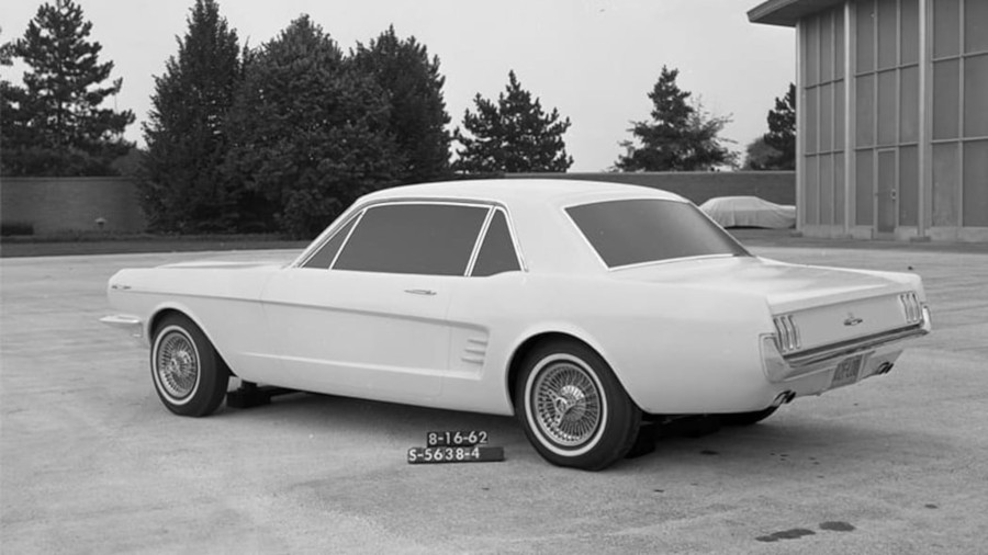 A Ford Mustang prototype in development 1962 Ford Motor Company Archives RESIZED 1