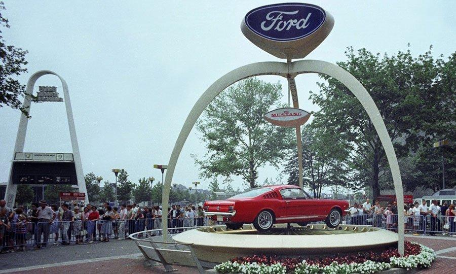 Ford Mustang at the 1964 Worlds Fair Ford Motor Company Archives 5