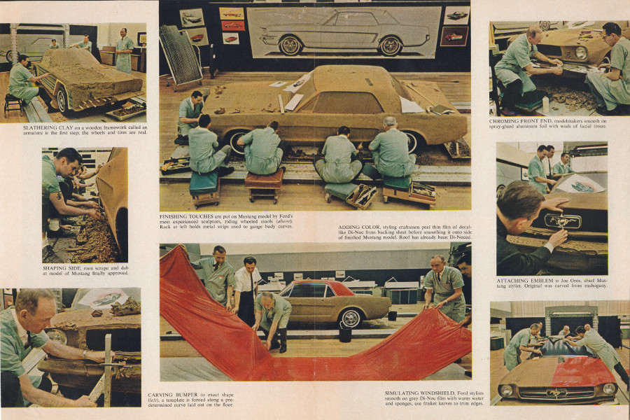 The Ford Mustang Design Studio in Time Magazine photos 1964 Ford Motor Company Archives 3
