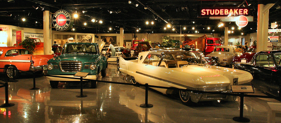 Museum display featuring a Studebaker truck and a Packard Predictor show car RESIZED 5