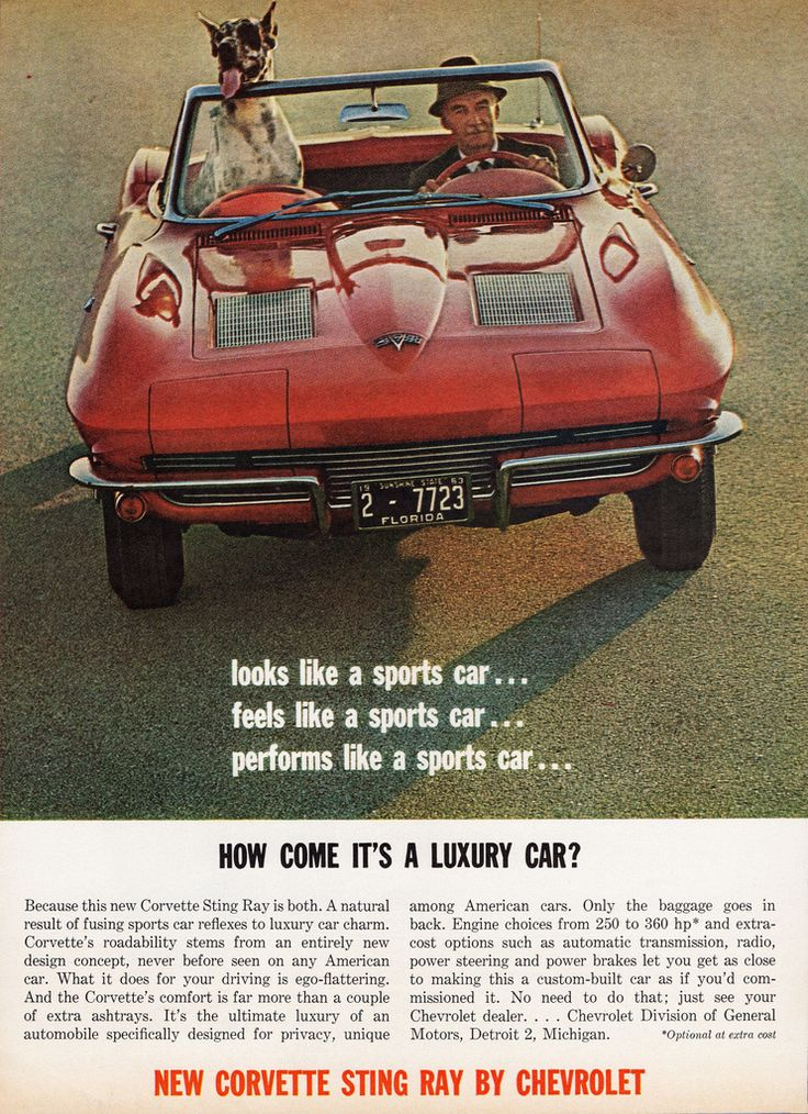 1963 Corvette Sting Ray ad Tate Collection 5