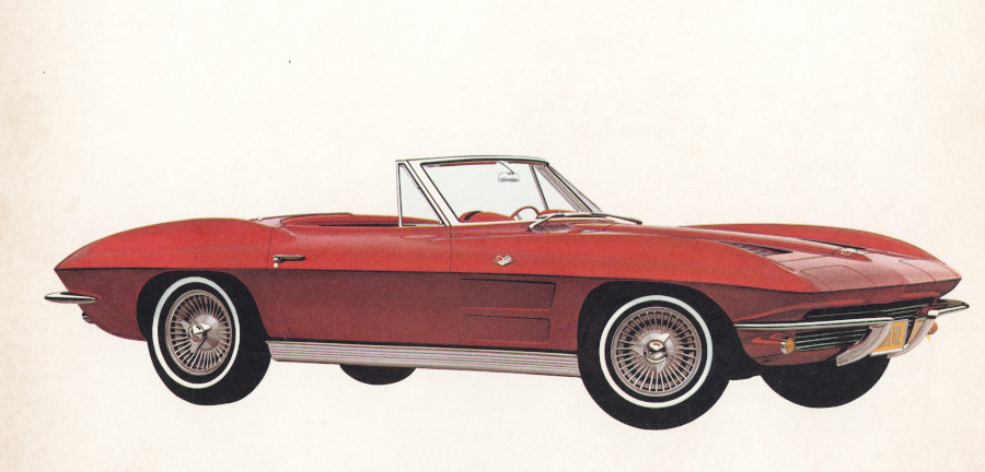 P1963 Corvette convertible in Riverside Red Tate Collection RESIZED 2