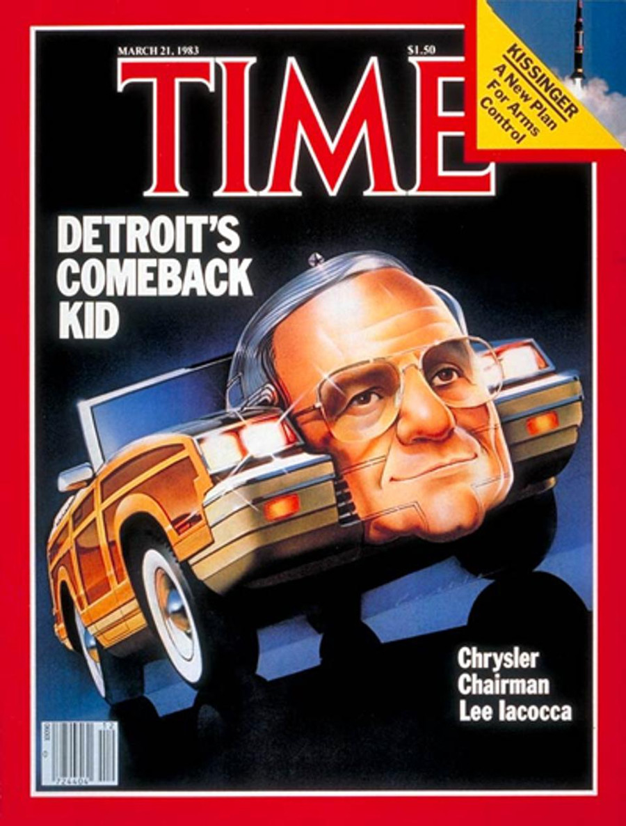 Resized March 1983 Time Magazine cover with Lee Iacocca at Chrysler 5