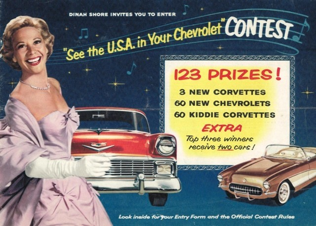 Dinah Shore Chevrolet ad NBC TV 10