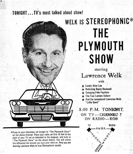 Lawrence Welk on The Plymouth Show ad Ferens Collection 7