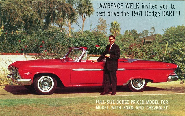 Lawrence Welk with a 1961 Dodge Dart Ferens Collection 8