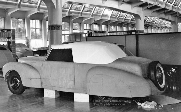 1940 Lincoln Contiental clay design proposal Ford Motor Company Archives 1