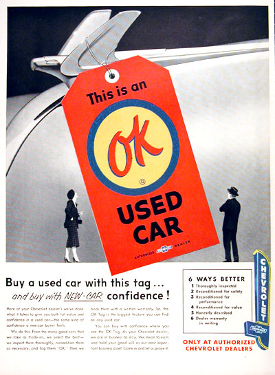 OK Used Cars magazine ad Tate Collection