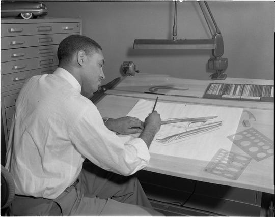 McKinley Thompson working at Ford 1950s Ford Motor Company Archives 1