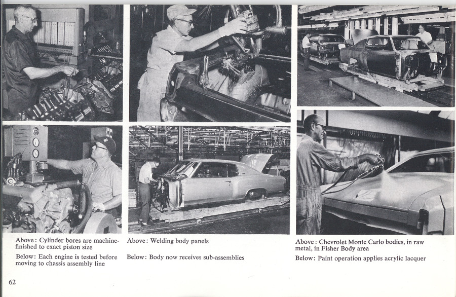 Chevrolet 1970 Monte Carlo assembly line from brochure 8 Tate Collection RESIZED